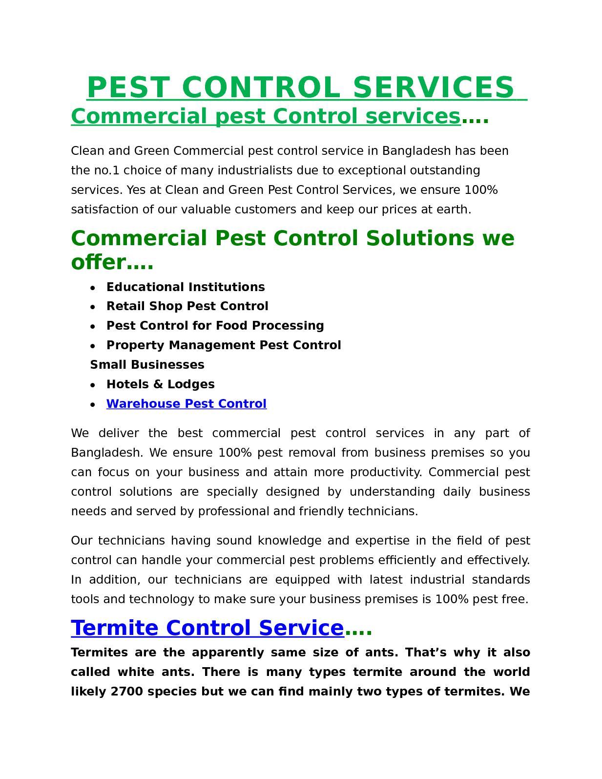 Calaméo - Pest Control Services