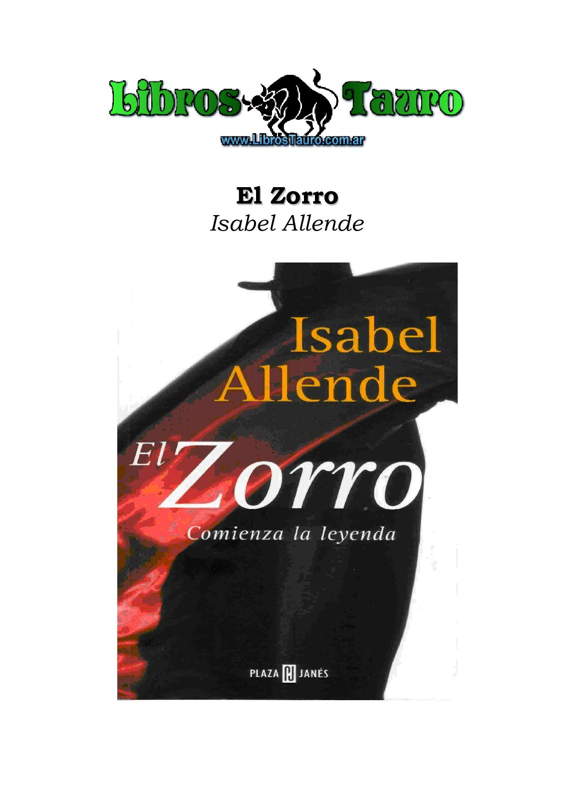 Calaméo Allende Isabel El Zorro