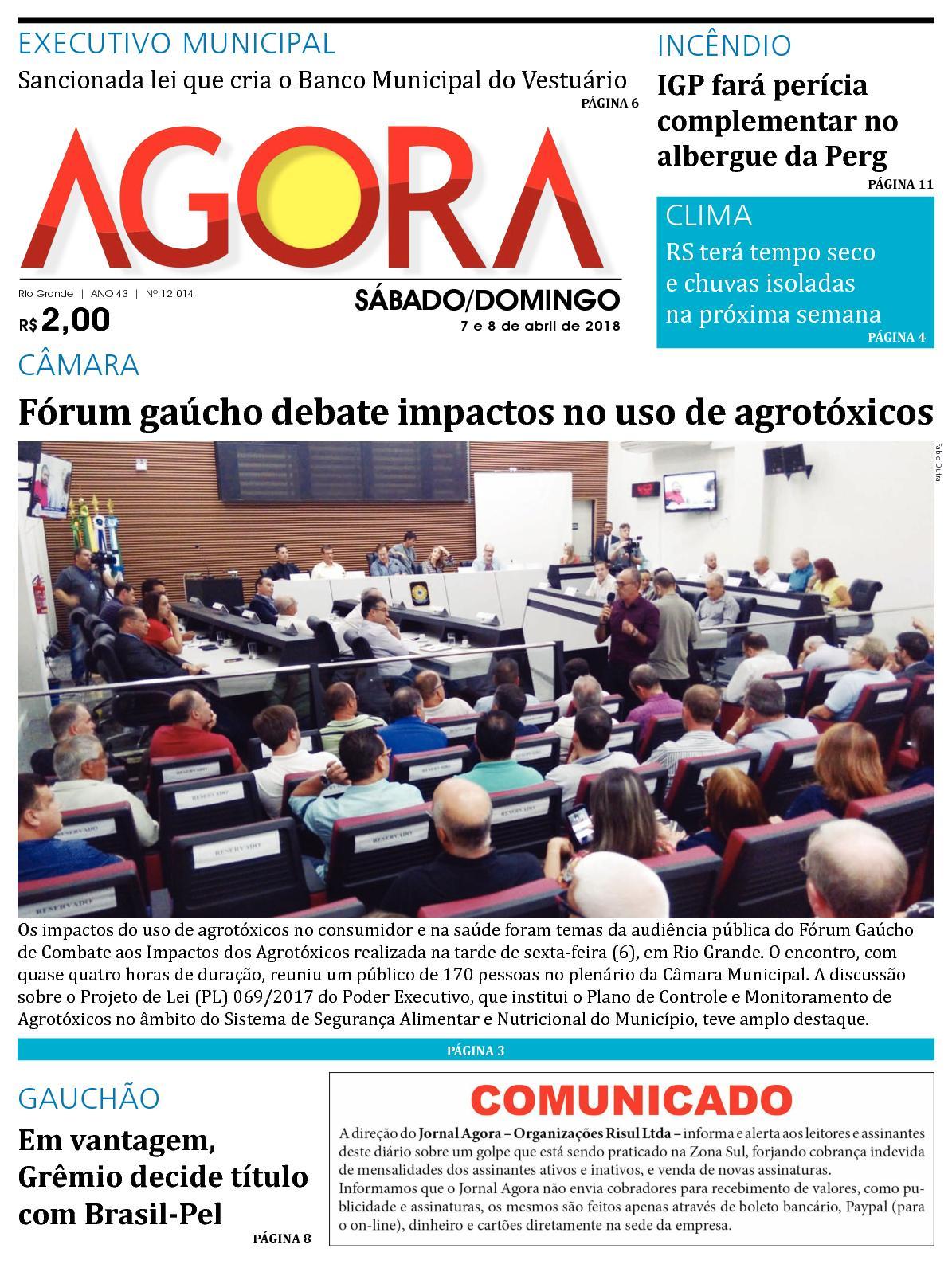 83c974fb3 Calaméo - Jornal Agora - Edição 12014 - 7 e 8 de Abril de 2018
