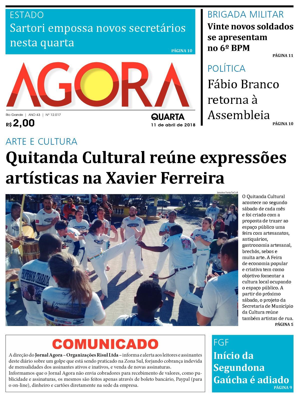 8268a5e3f Calaméo - Jornal Agora - Edição 12017 - 11 de Abril de 2018