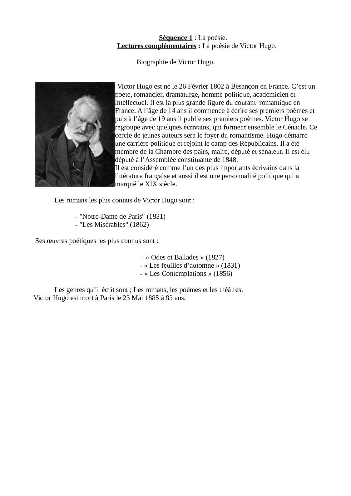 Calaméo Courte Biographie De Victor Hugo
