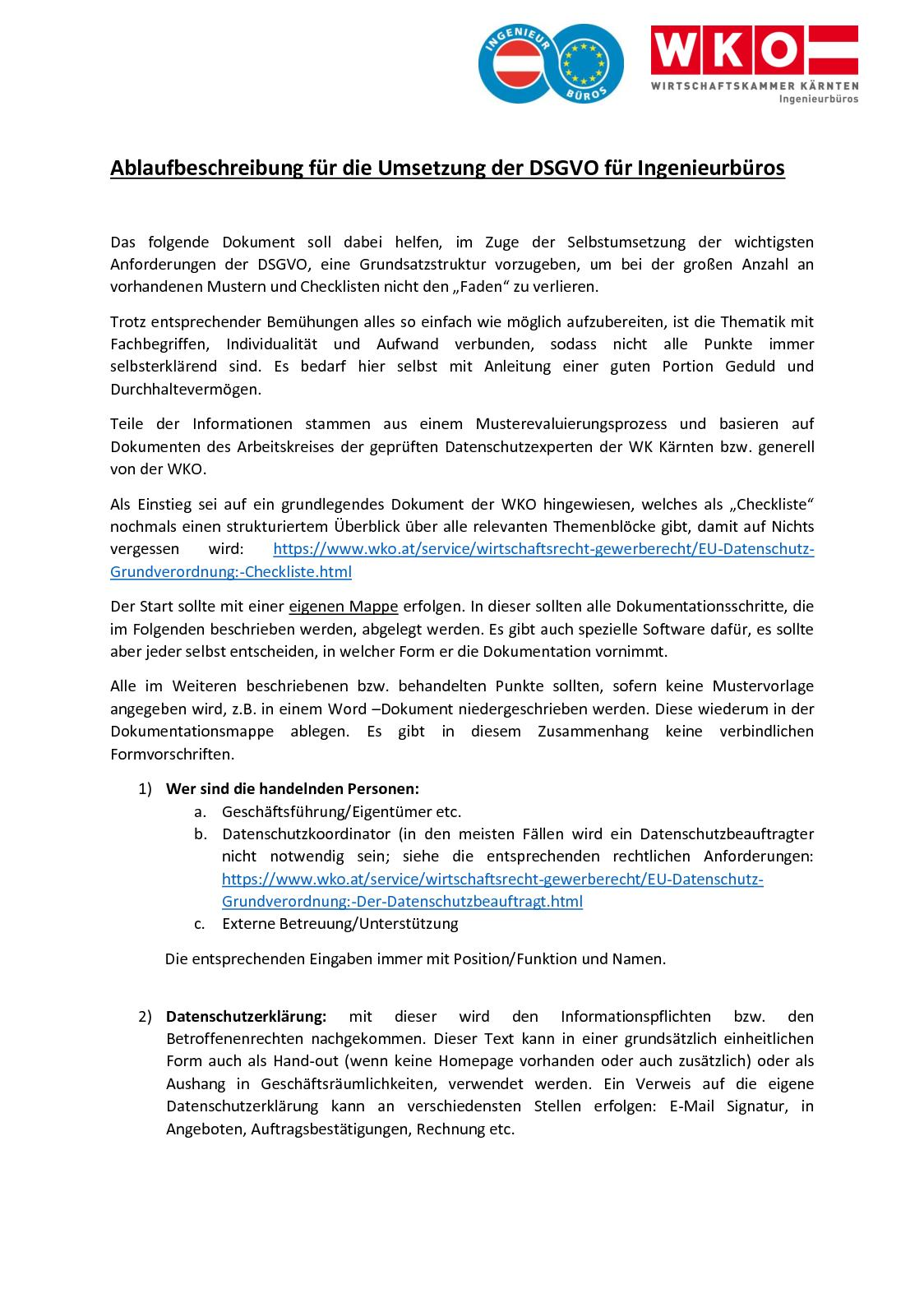 Calaméo Ablaufbeschreibung Für Die Umsetzung Der Dsgvo Für