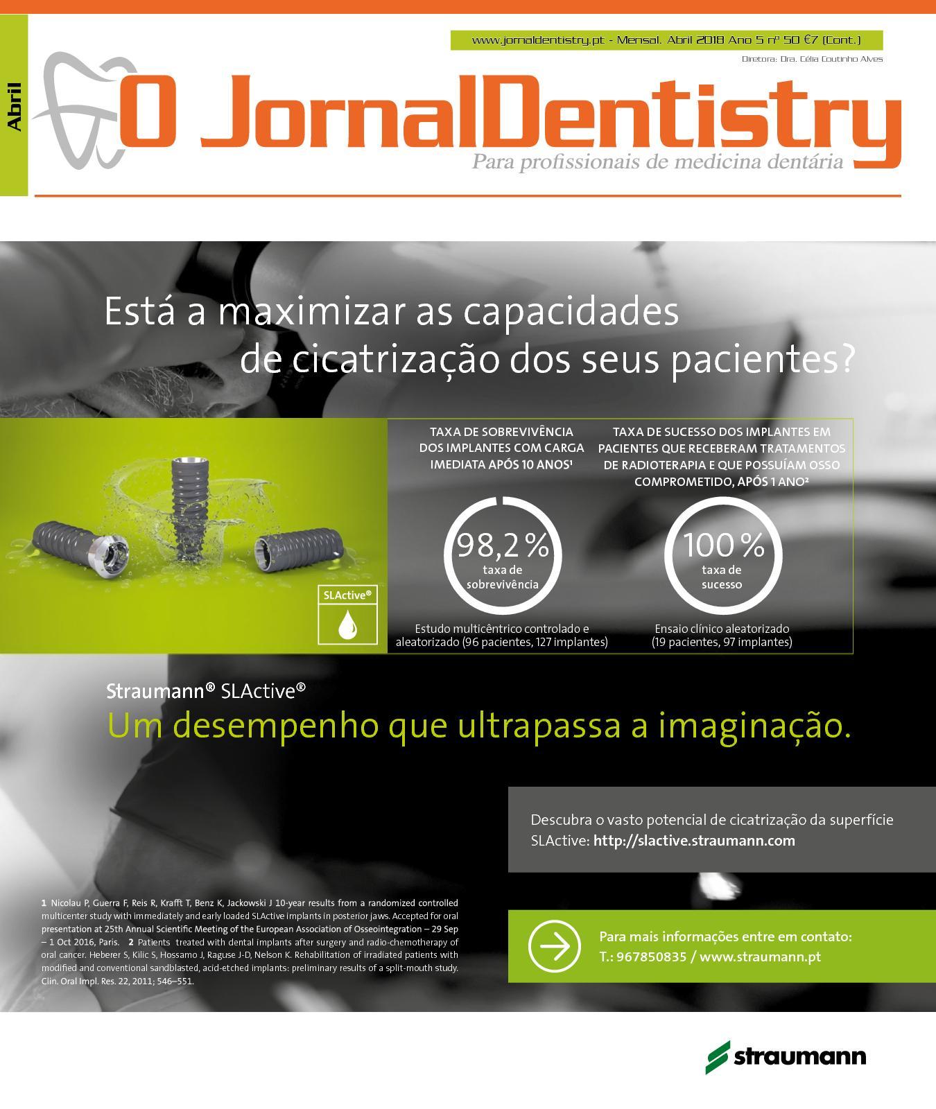 52e8cdb04e5b2a Calaméo - O JornalDentistry n.50 abril 2018