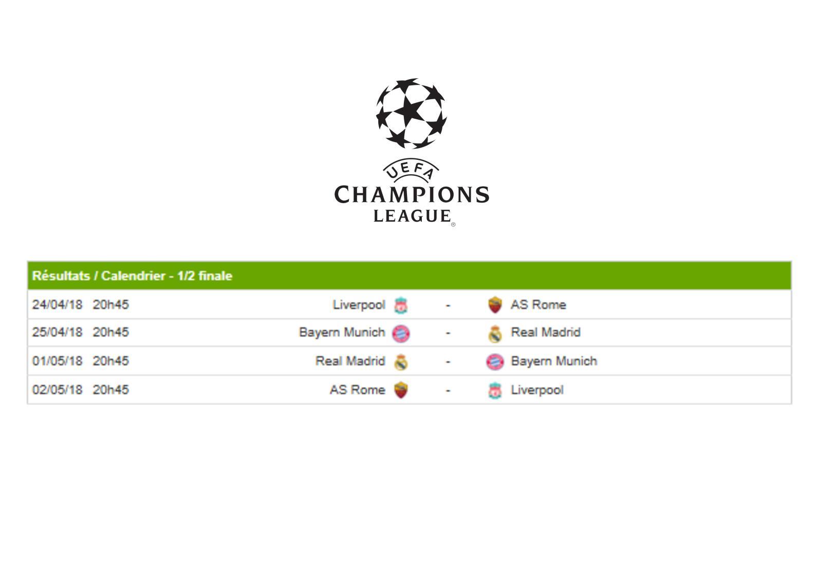 Calendrier Bayern.Calameo Calendrier Champions League