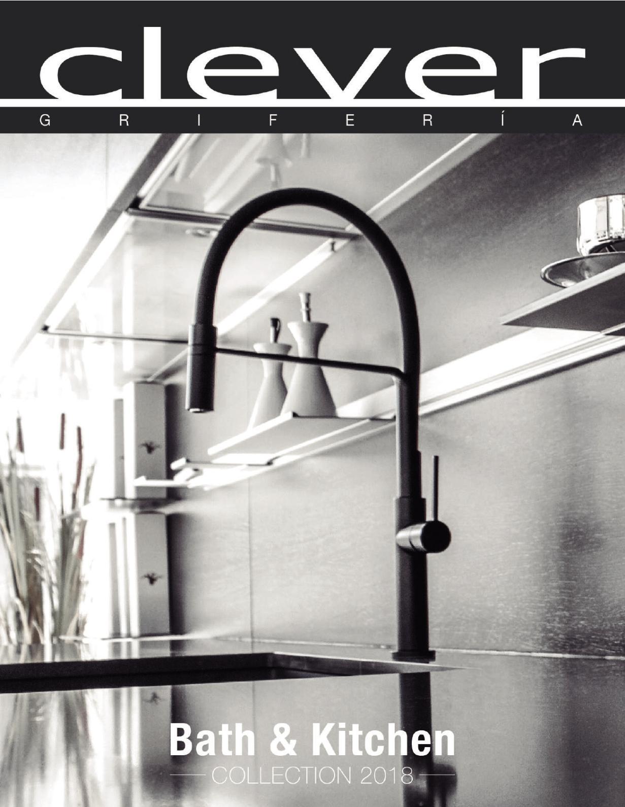 Clever 92603 Grifo DE Cocina Vertical Caiman Cromo Cromado