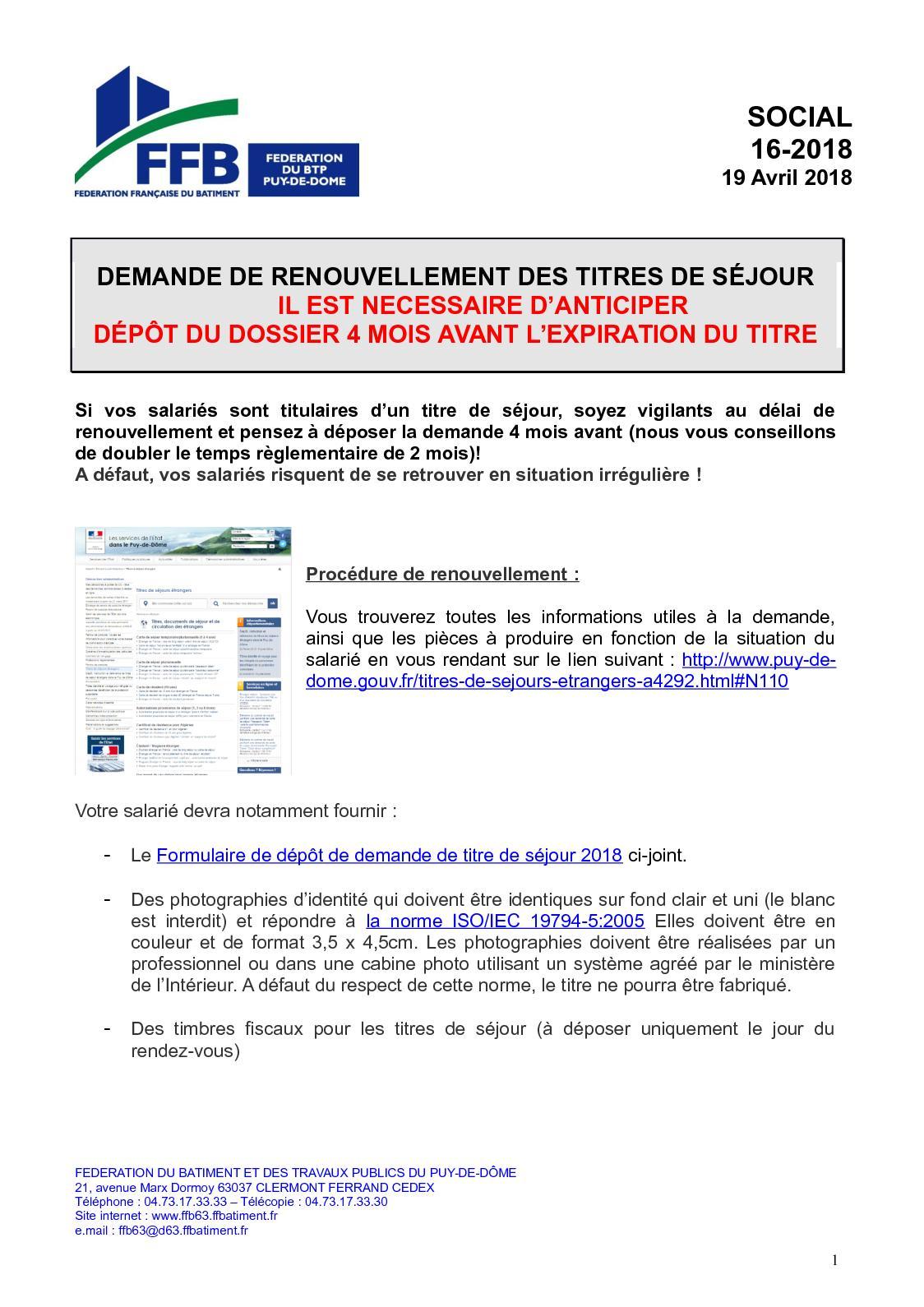 Renouvellement Carte De Sejour Formulaire | Carte De Paris