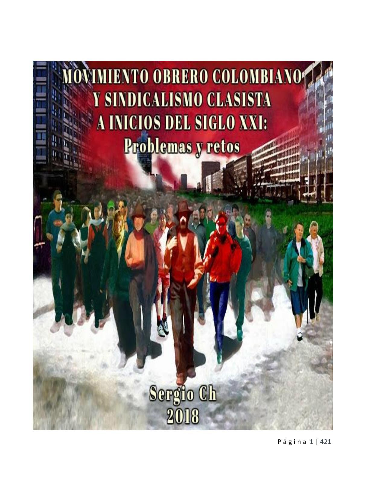 92311b16c1 Calaméo - Libro 2018 MOVIMIENTO OBRERO COLOMBIANO Y SINDICALISMO CLASISTA A  INICIOS DEL SIGLO XXI: Problemas y retos