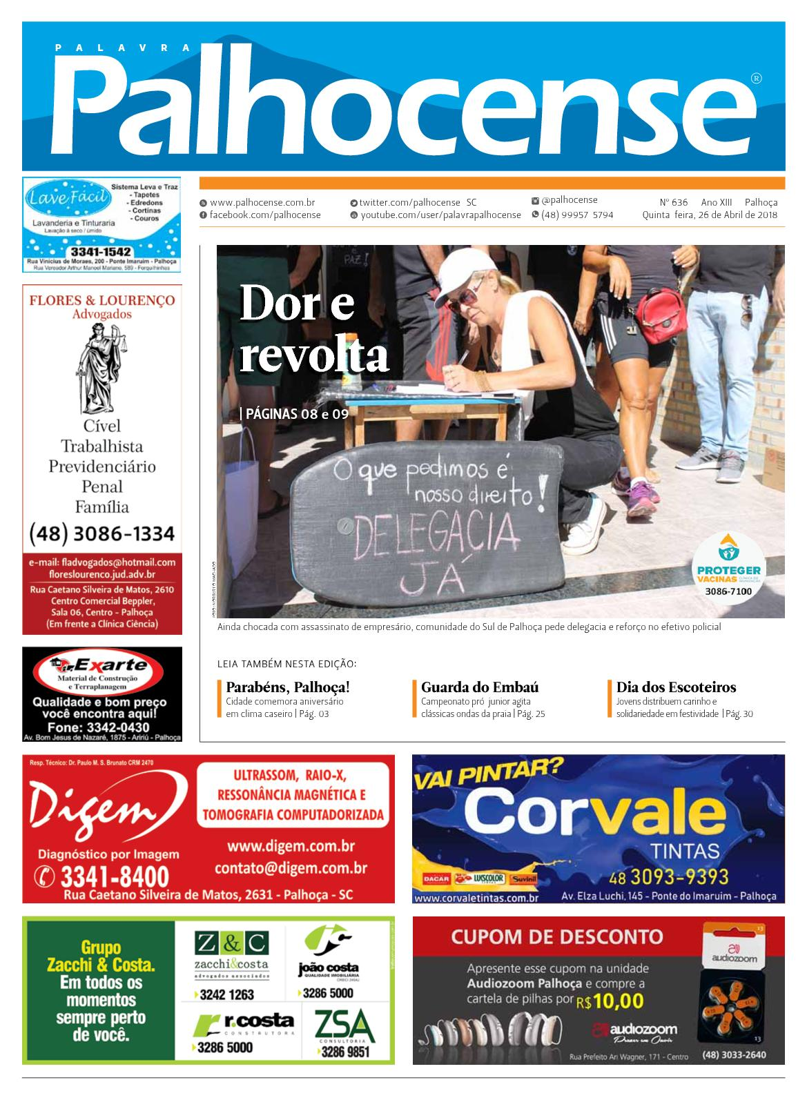 54fb3a7929 Calaméo - JORNAL PALAVRA PALHOCENSE - EDIÇÃO 636