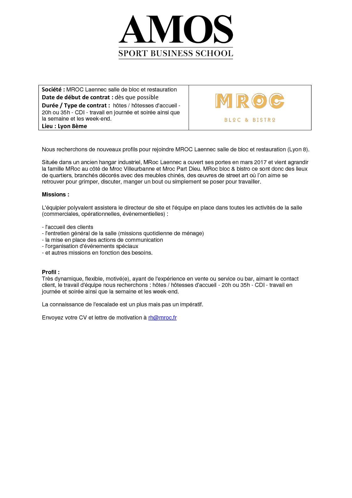 Calameo 270418 Offre D Emploi Mroc Laennec