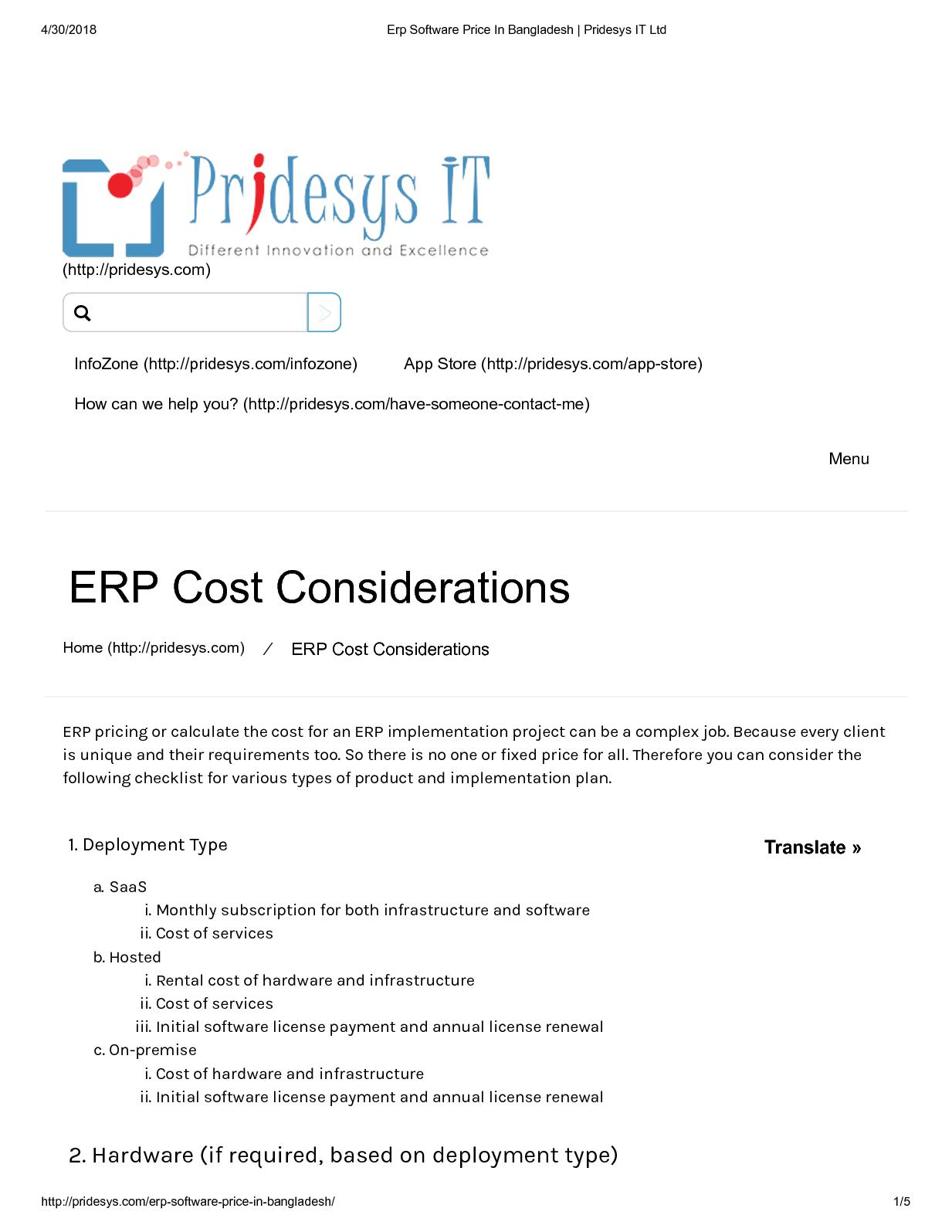Calaméo - Erp Software Price In Bangladesh Pridesys It Ltd