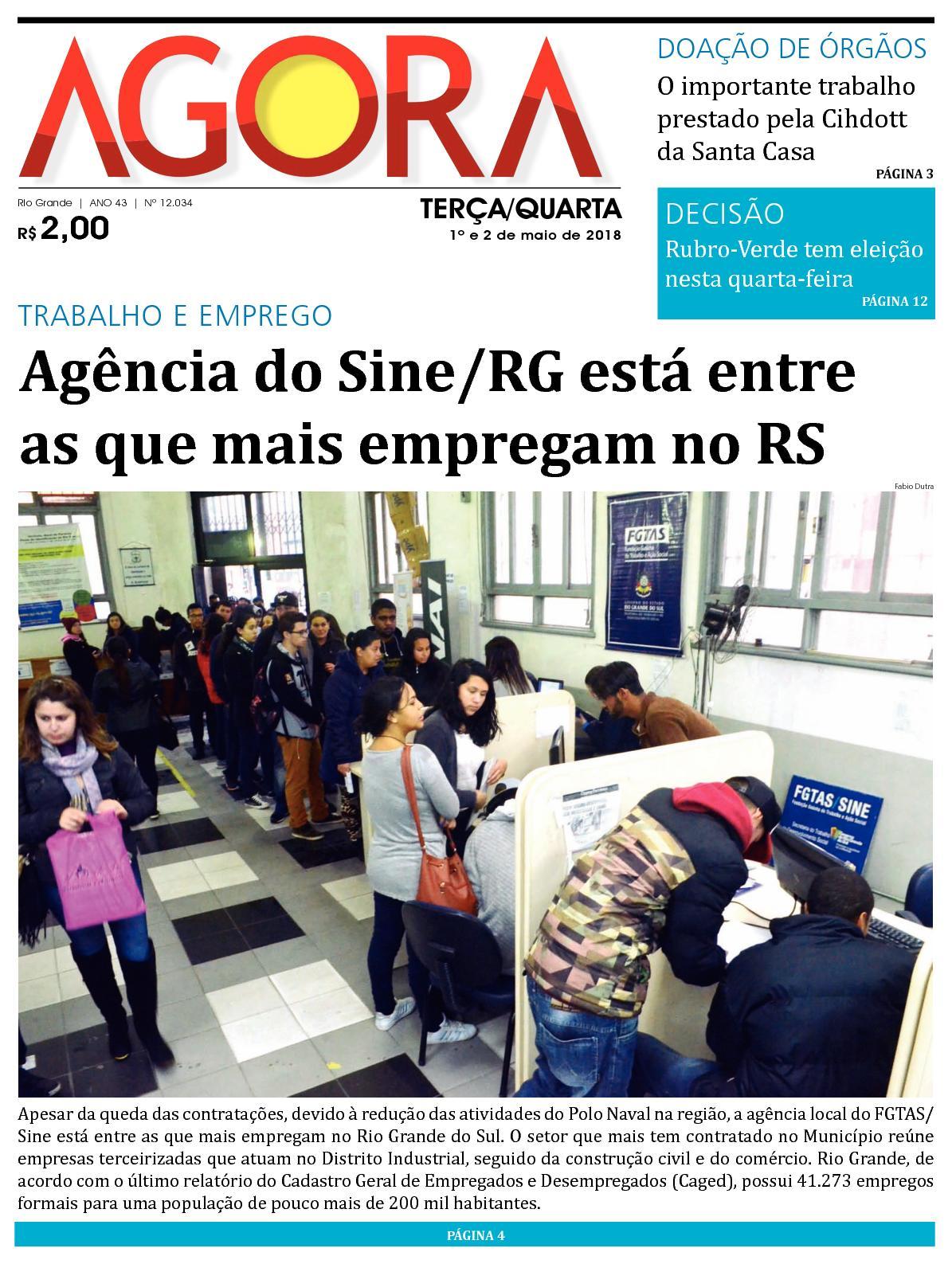 66e03e55c Calaméo - Jornal Agora - Edição 12034 - 1º e 2 de Maio de 2018
