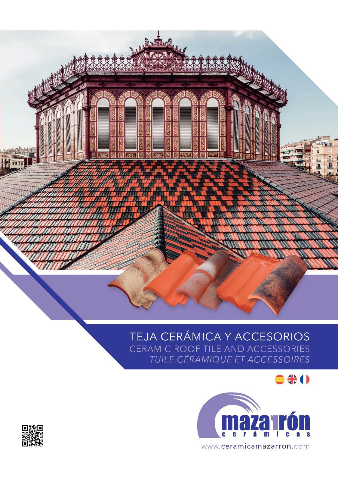 Teja de vidrio marsellesa y doble romana. portuguesa