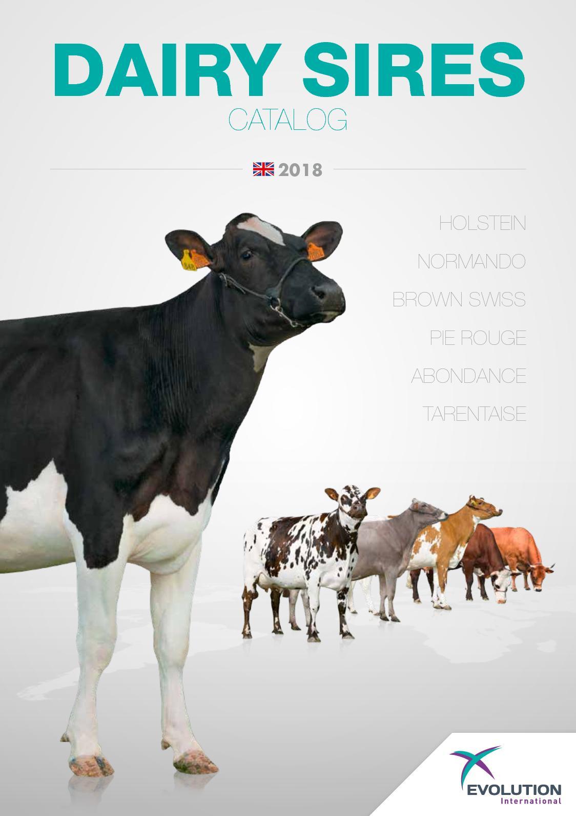 Catalogue 2018 Taureaux Laitiers En