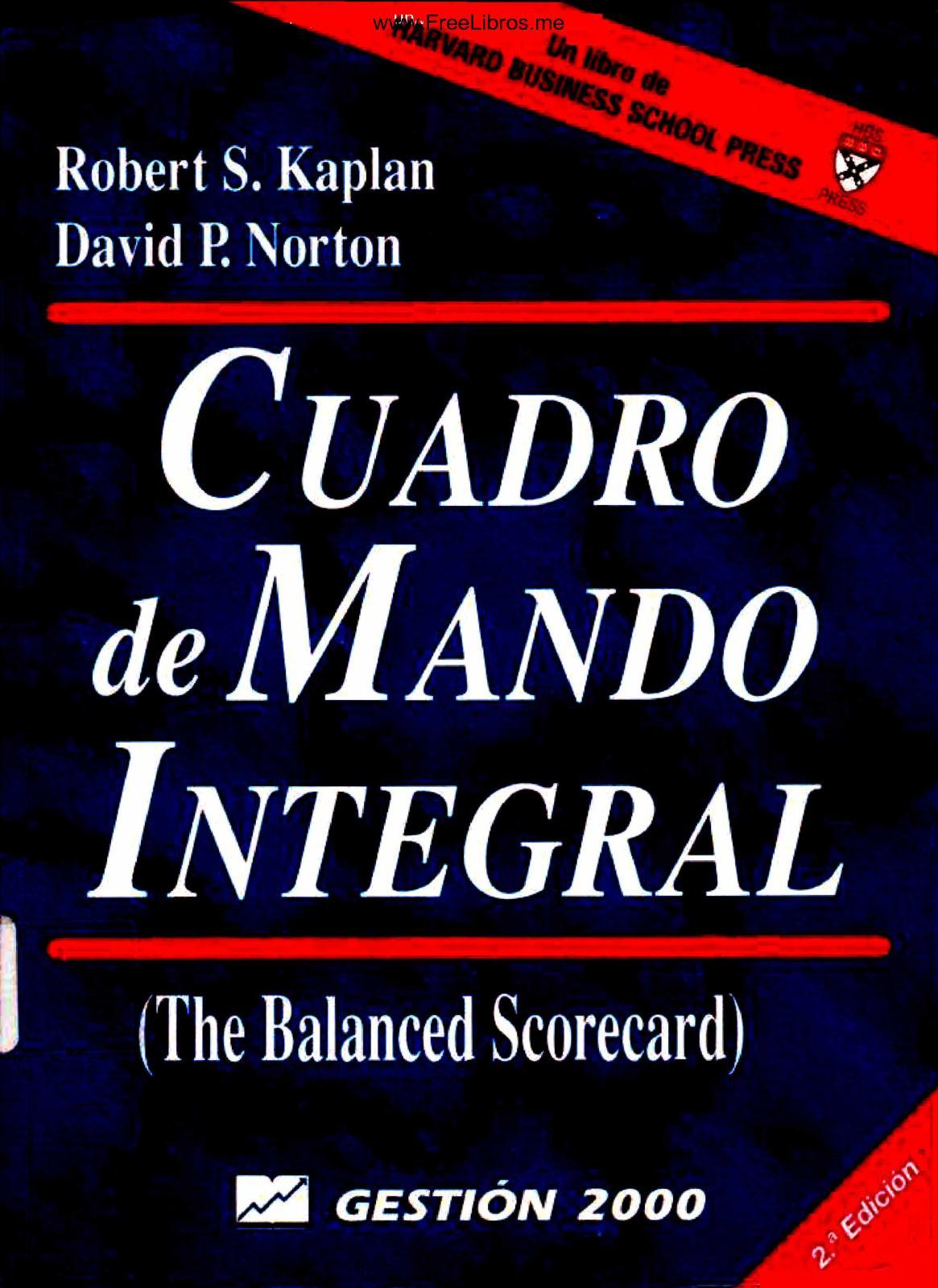 Calaméo Cuadro De Mando Integral 2da Edición Robert S Kaplan