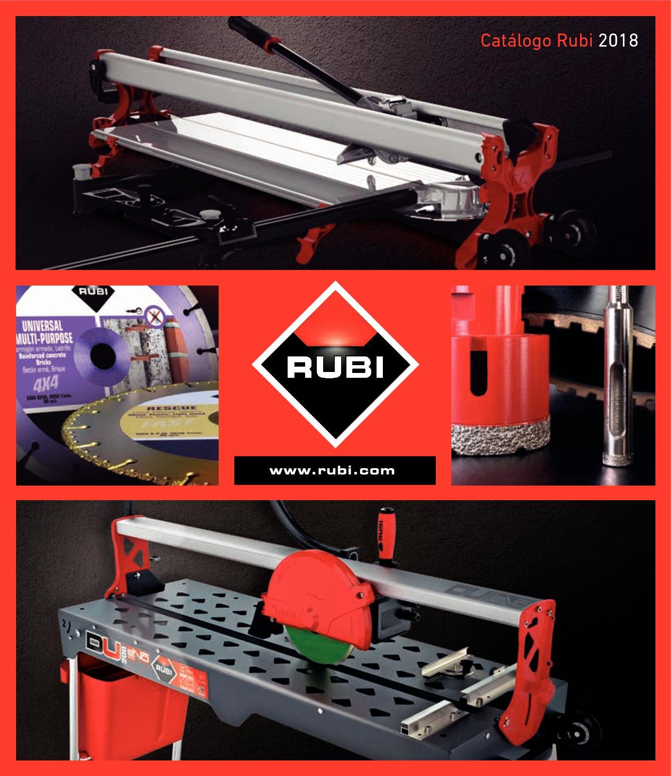 Rubi 18972 Cortadora manual Rojo