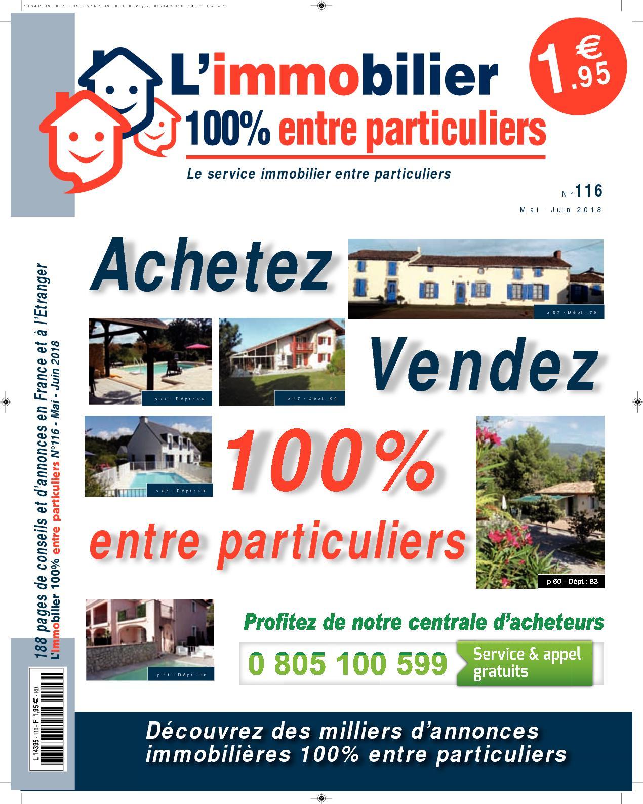 3b5b969c06335f Calaméo - L'immobilier 100% entre Particuliers – N°116 – Mai/Juin 2018