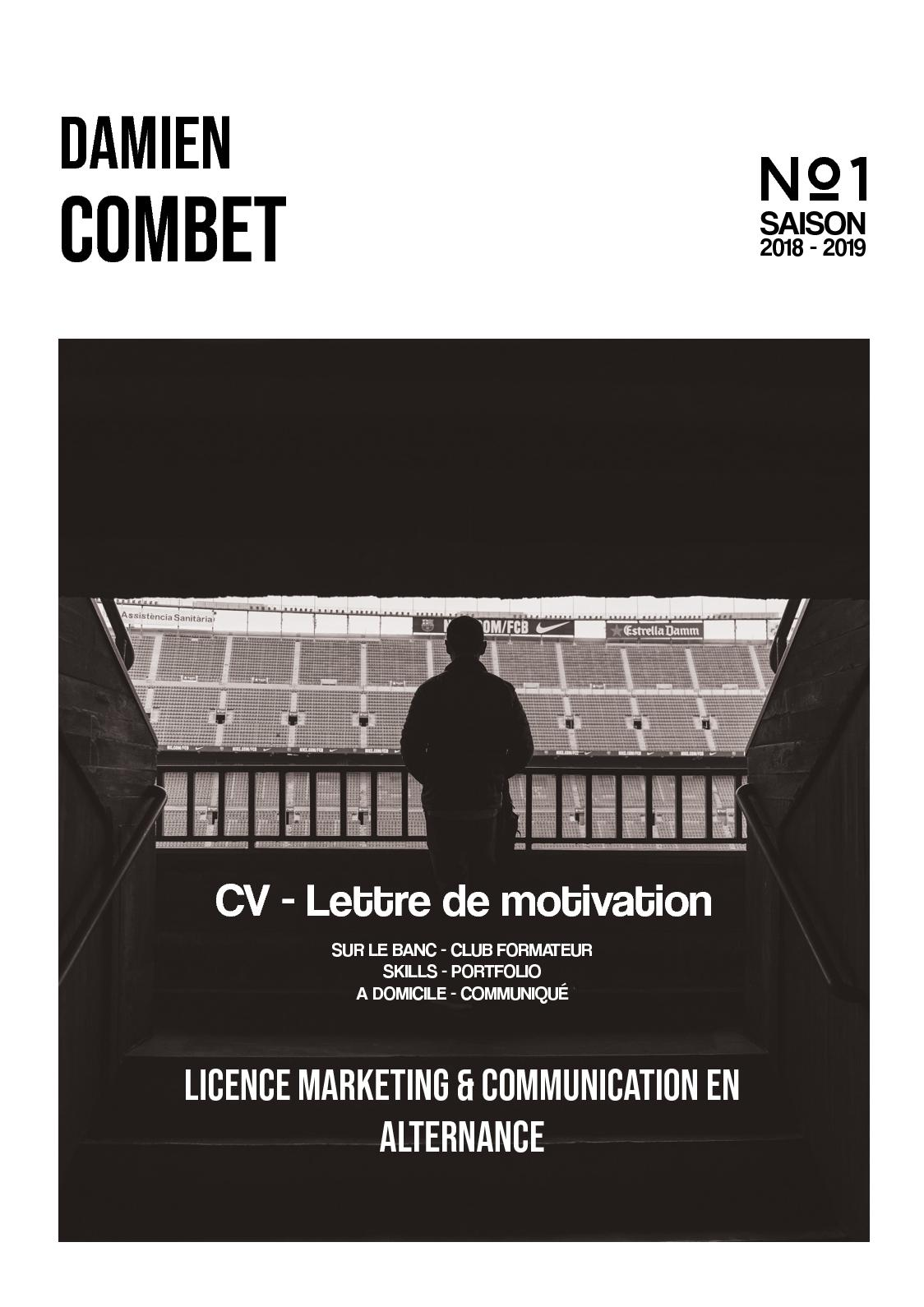 Calameo Cv Candidature Licence Marketing Communication