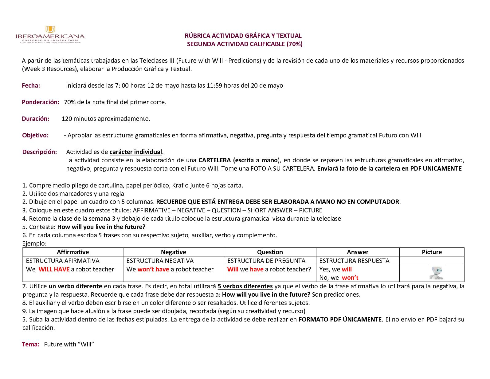 Calaméo Rúbrica Evaluación Entrega Gráfica English Vi
