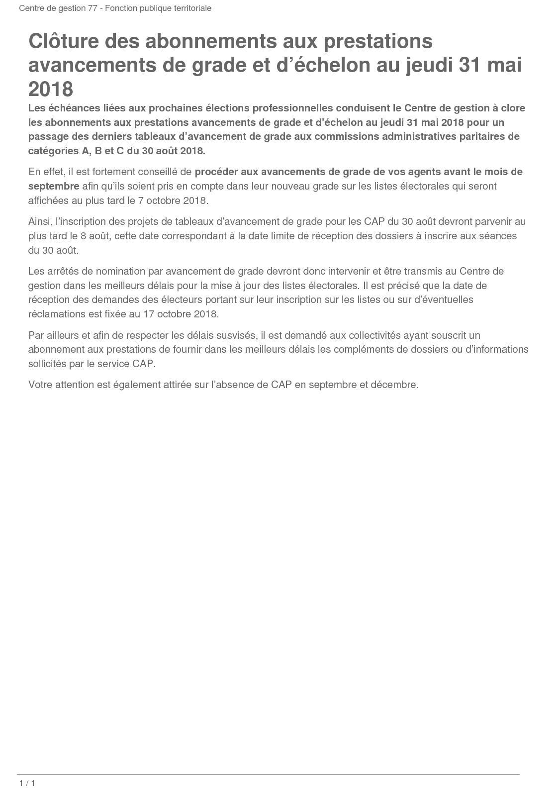 Calameo Cloture Des Abonnements Aux Prestations Avancements De