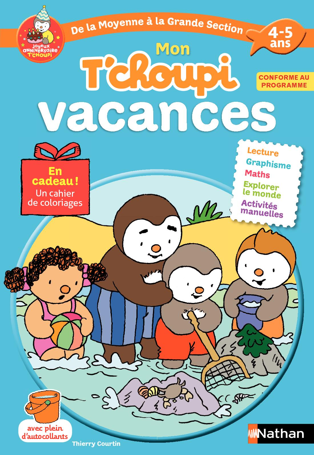 cahier de vacances T'choupi - MS vers GS