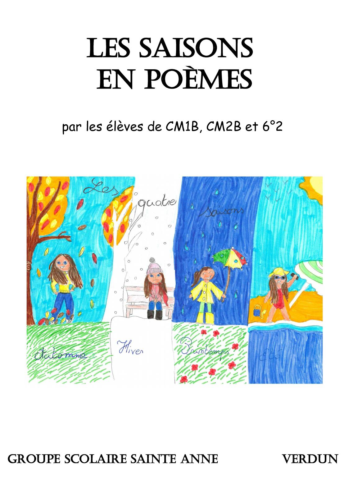 Calaméo Recueil Poèmes Saisons 62 Cm2b Cm1b 1