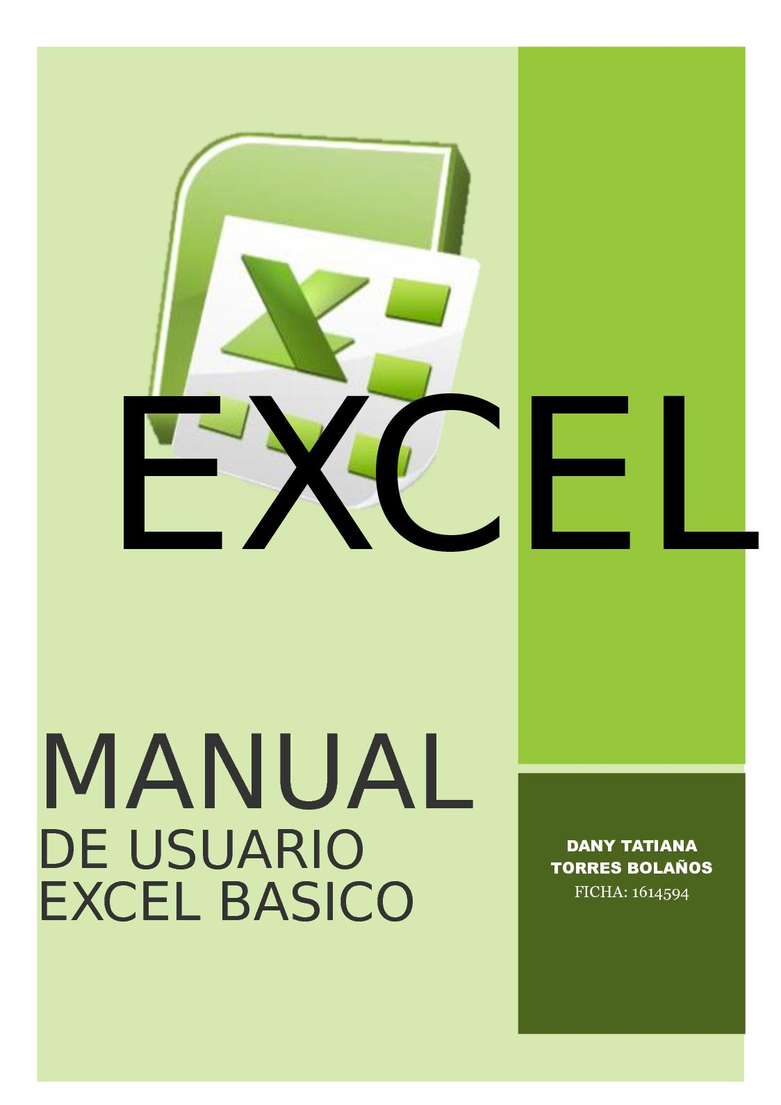 Manual De Usuario Excel
