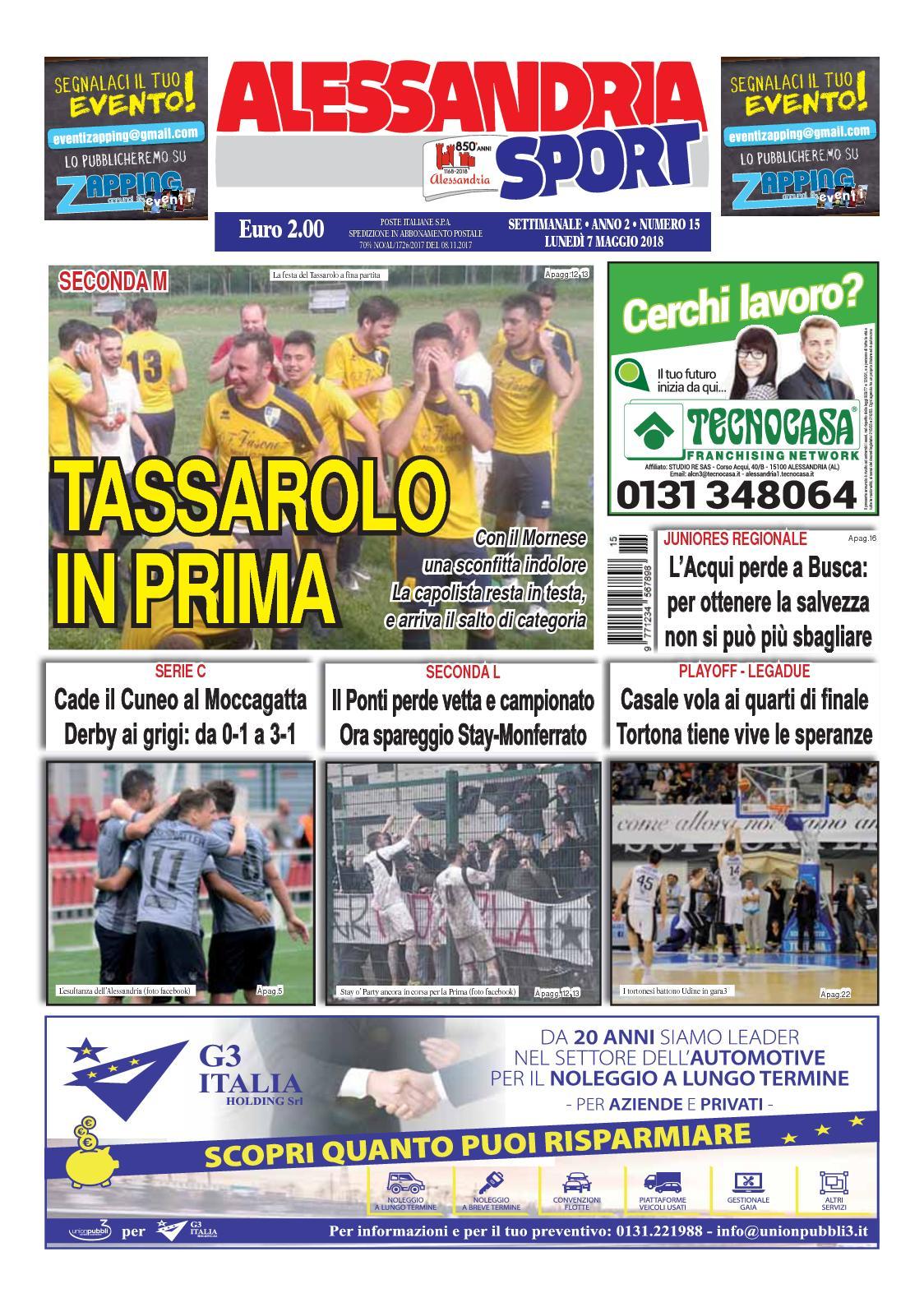 competitive price 95c0e 7fede Calaméo - 2018 Alessandria Sport 15