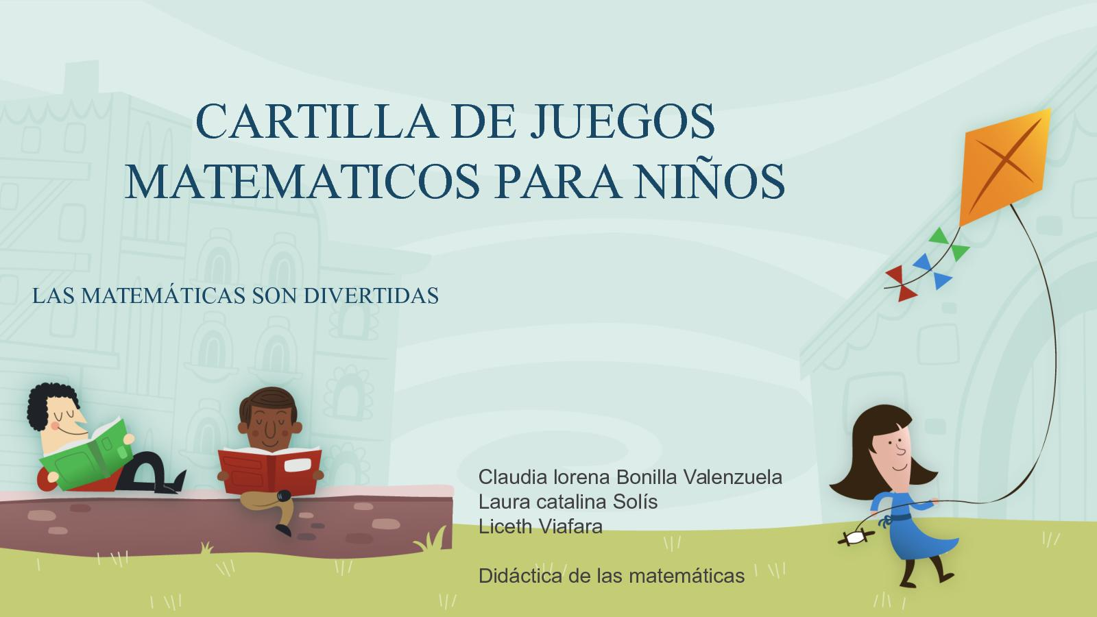 Calameo Cartilla De Juegos Matematicos Para Ninos