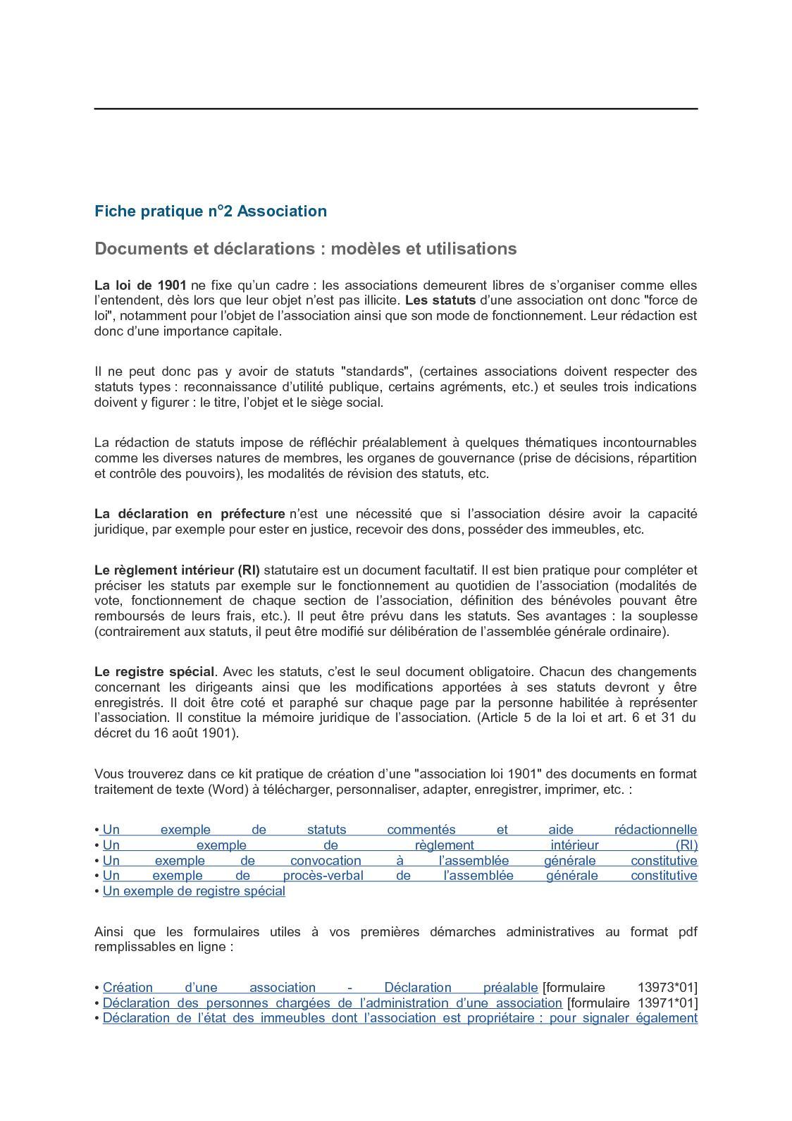 Calameo Fiche Pratique N 2 Association