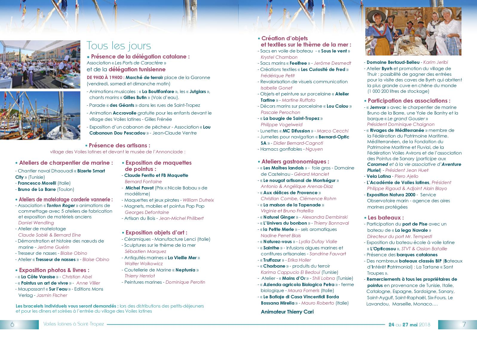 Atelier Du Bois Monaco voiles latines 2018 : le programme - calameo downloader