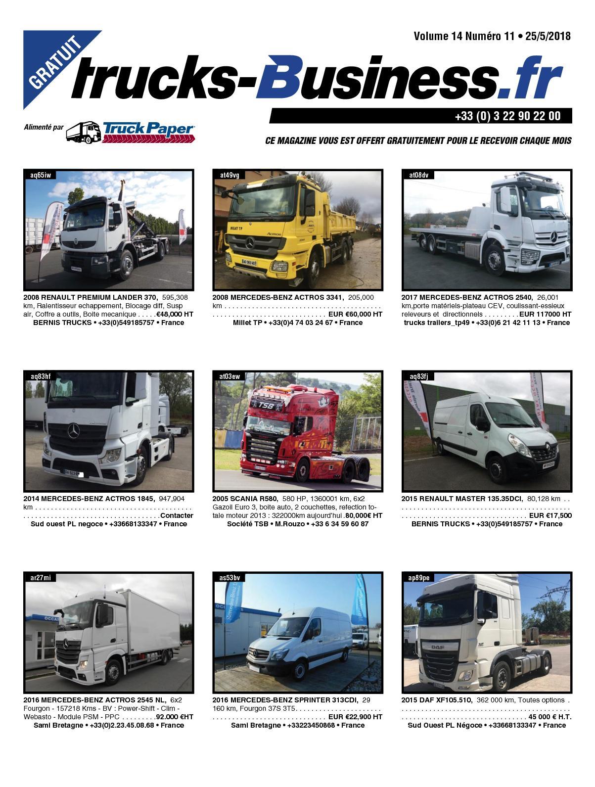 Calaméo Trucks Business Volume 14 Numéro 11 25052018