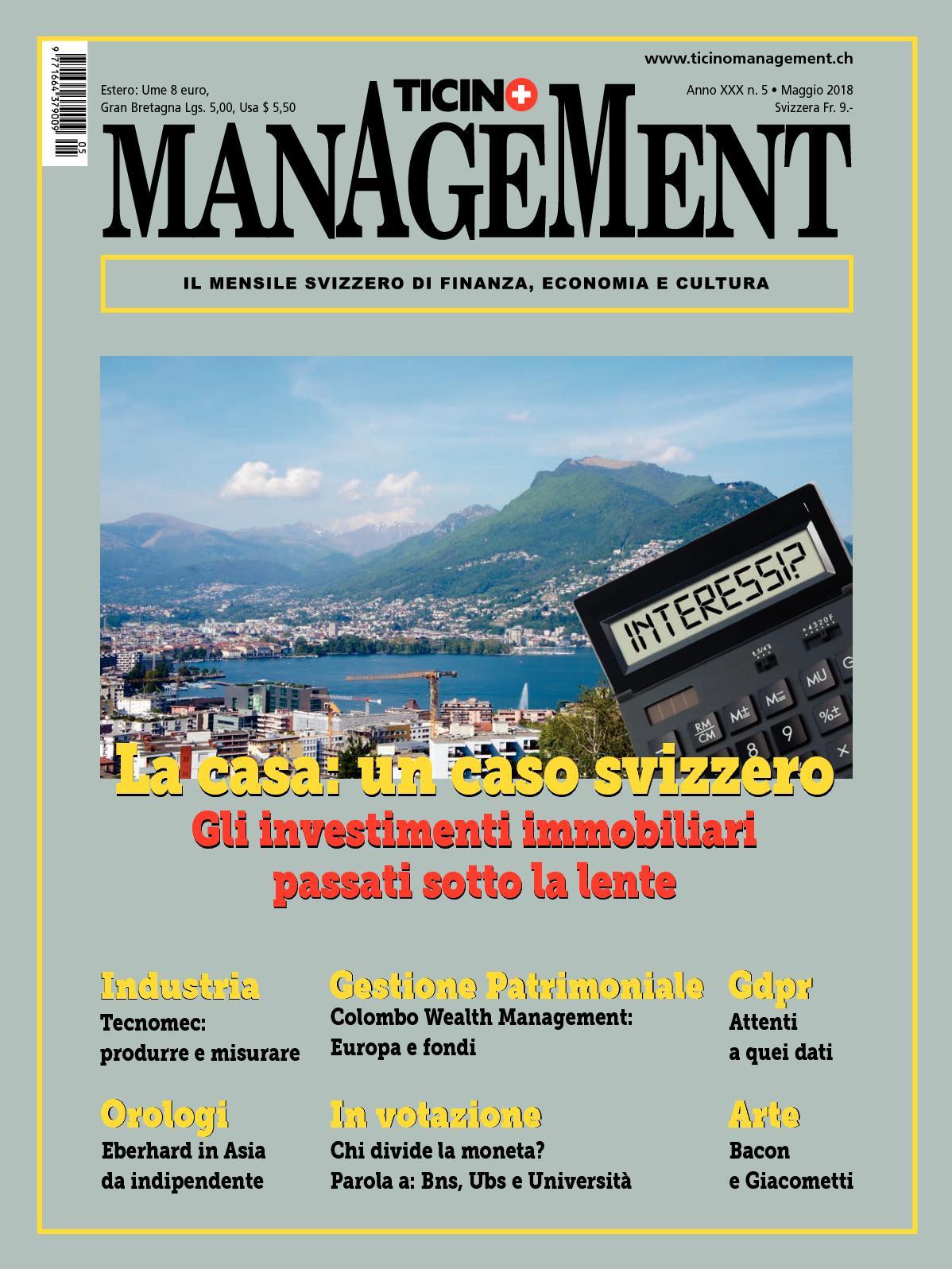 pretty nice e3427 7e3d6 Calaméo - Ticino Management Maggio 2018