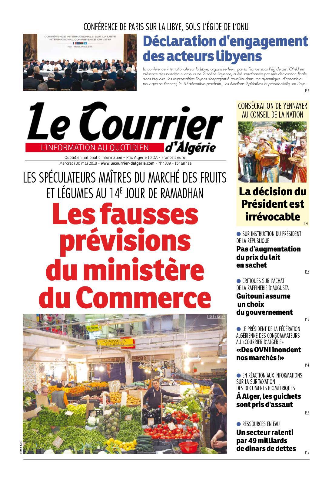 d0de6fadb2c Calaméo - Le Courrier D Algérie Du Mercredi 30 Mai 2018