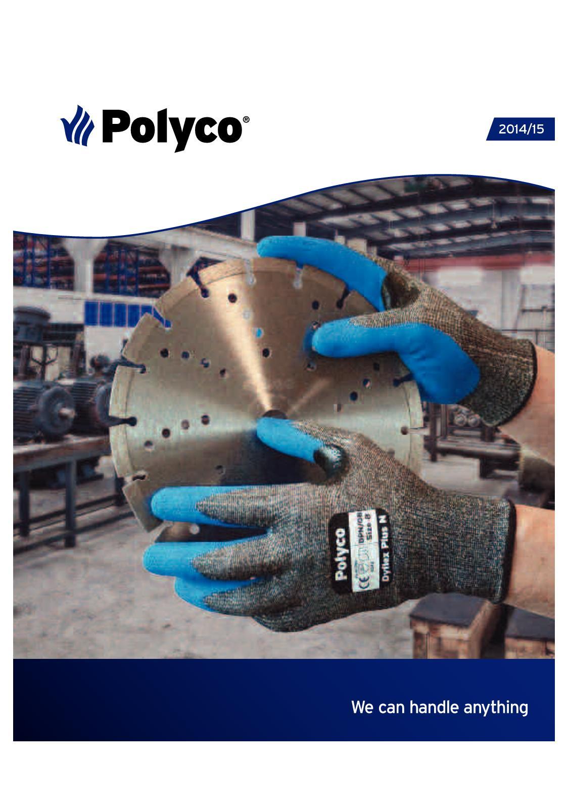 Polyco FHD50//M Finite HD Nitrile Powder Free Disposable Gloves Blue SIZE-7.5 B