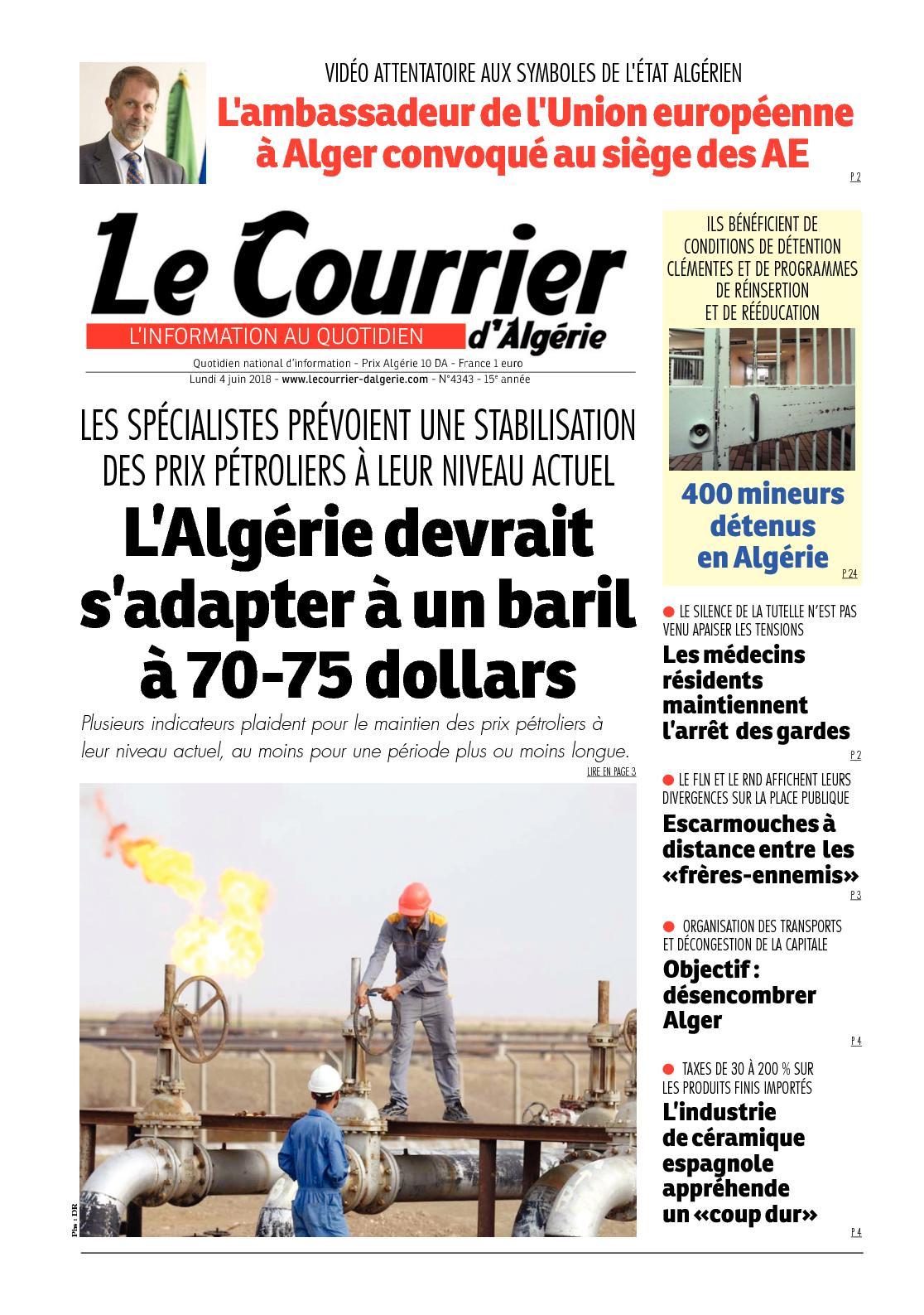 huge discount 12d40 6d7a4 Calaméo - Le Courrier D Algérie Du Lundi 4 Juin 2018