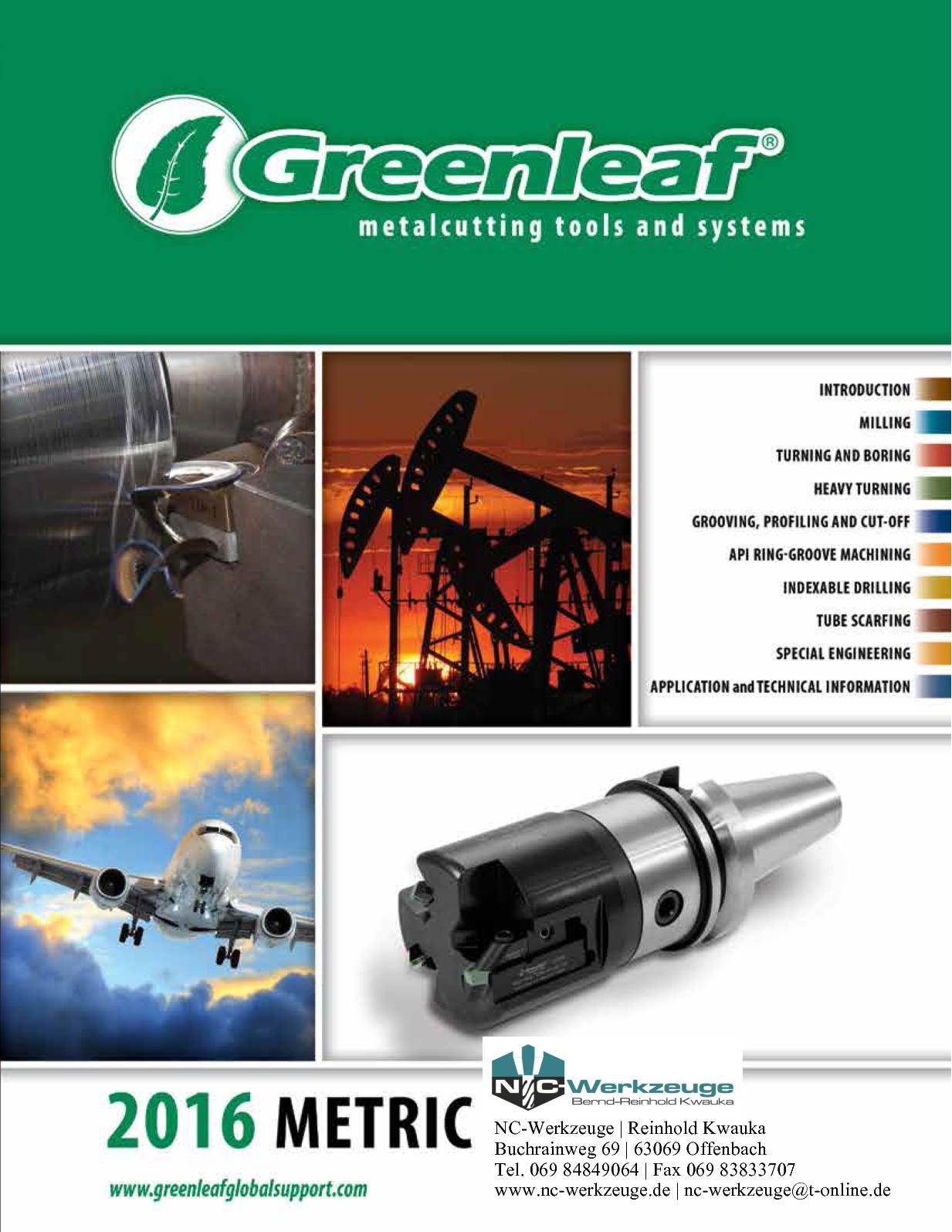 Greenleaf IRSN 43 carbide inserts 10 pcs.