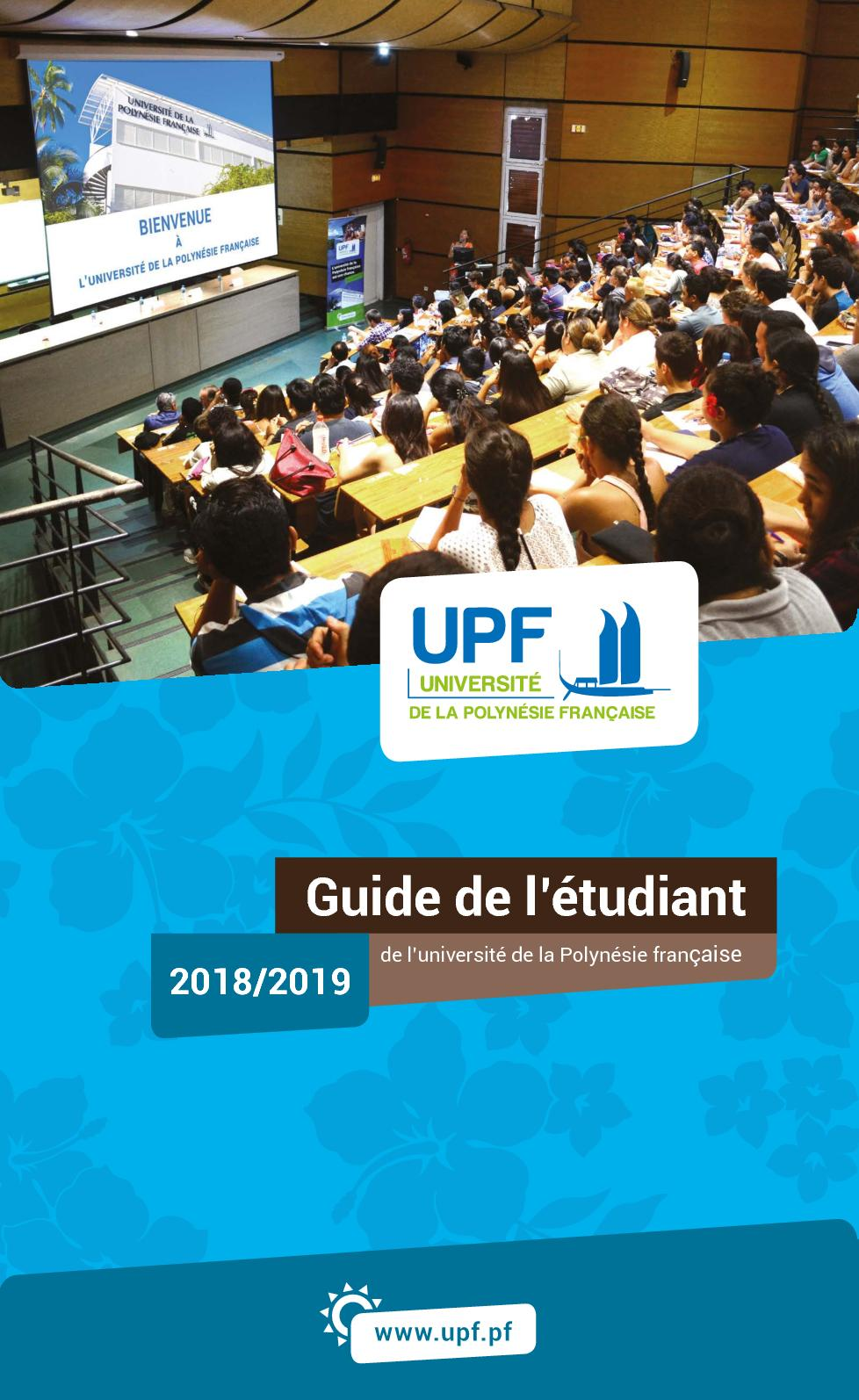 Calameo Guide De L Etudiant De L Upf 2018 2019