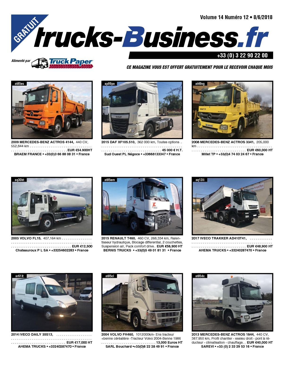 Calaméo Trucks Business Volume 14 Numéro 12 080618
