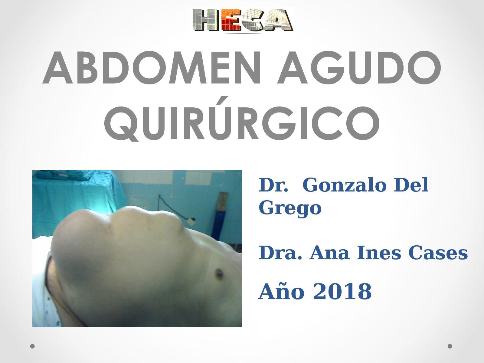 que es un abdomen agudo quirurgico