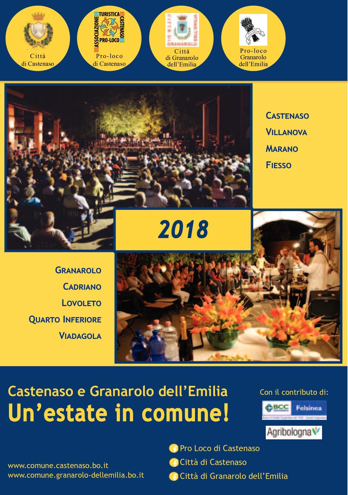 Comune Di Granarolo Dell Emilia calaméo - guida estate castenaso-granarolo 2018