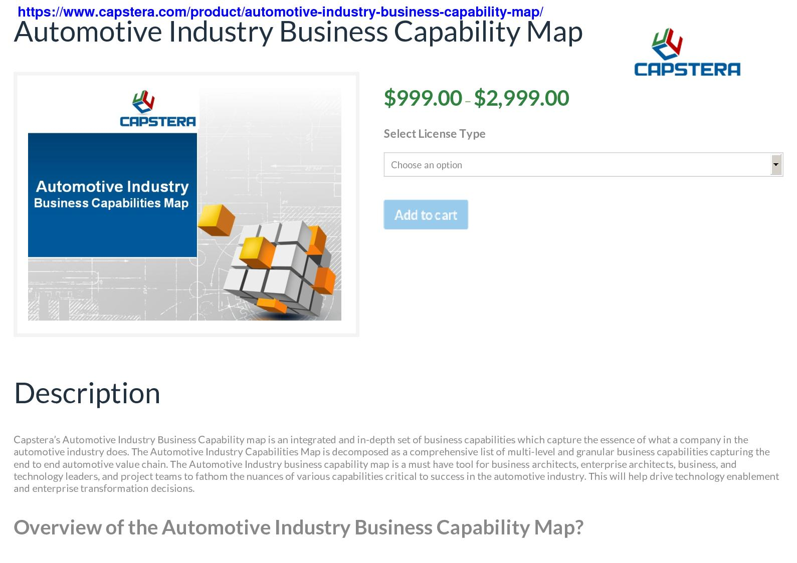 Calaméo - Automotive industry business capability map