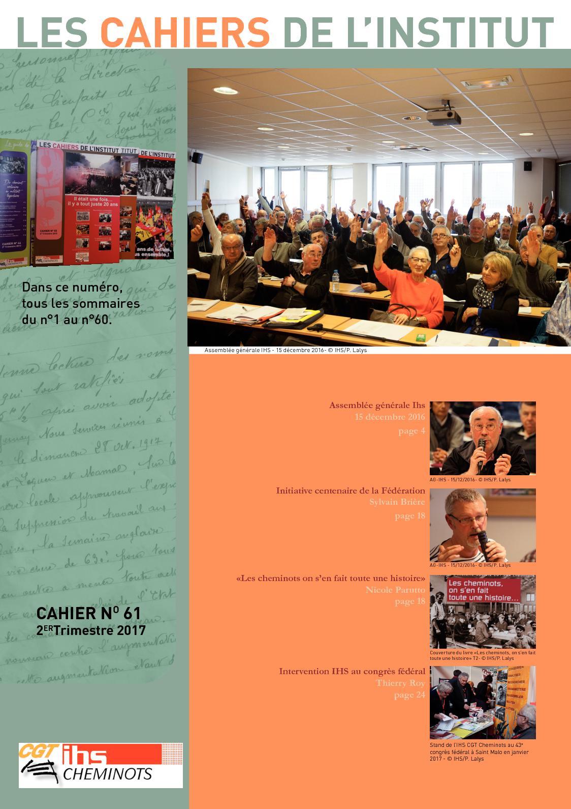 Calameo Les Cahiers De L Institut N 61