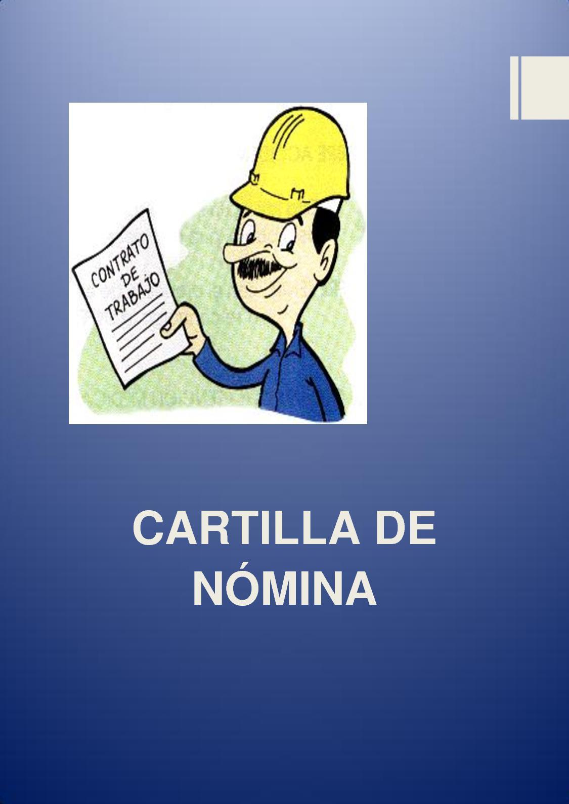 Cartilla Nómina -