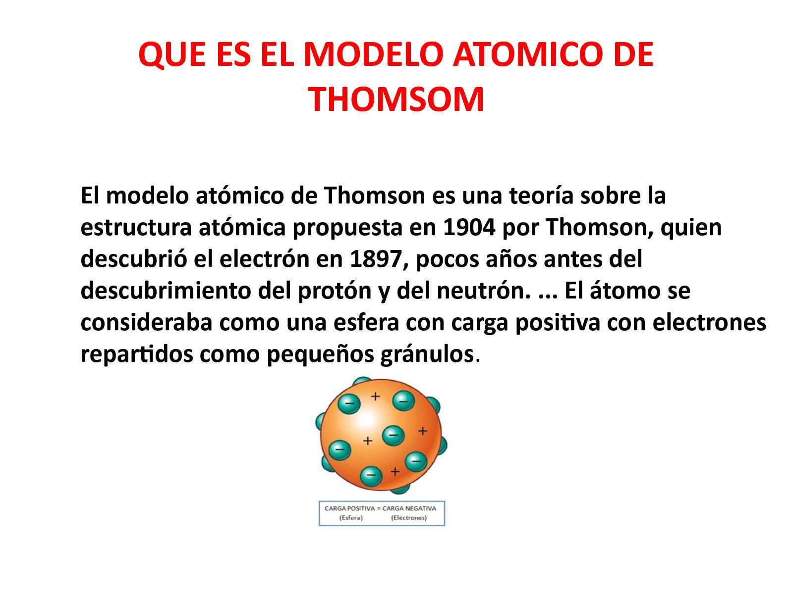 Calaméo Que Es El Modelo Atomico De Thomsom