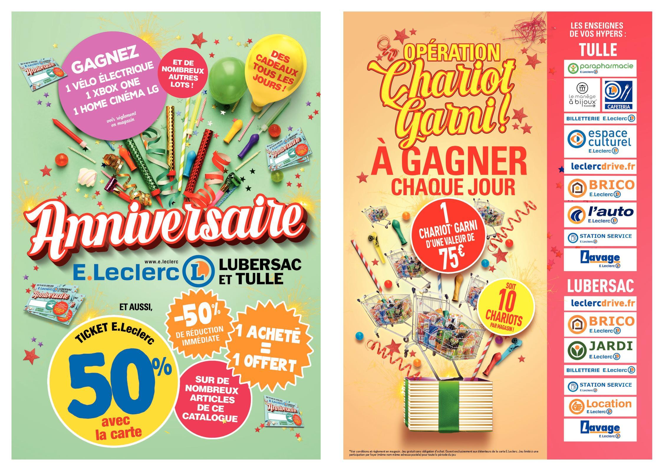 Catalogue Anniversaire Eleclerc Tulle Lubersac Calameo
