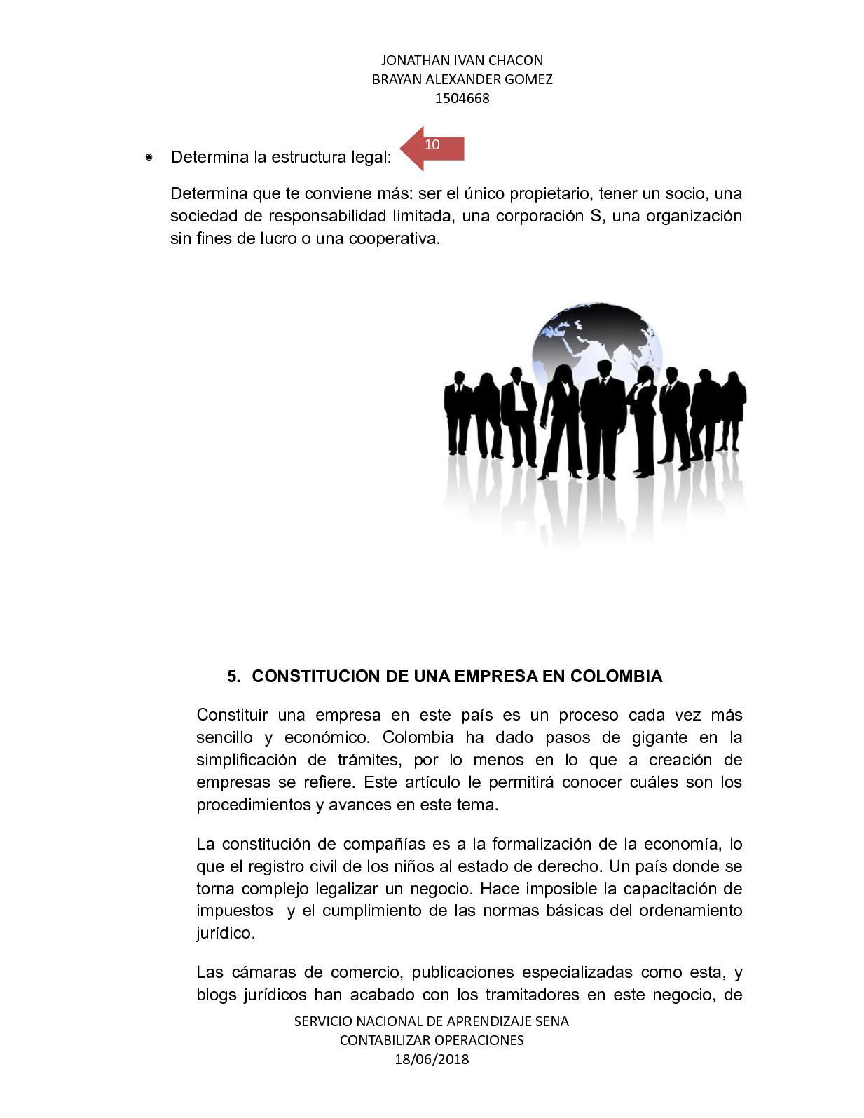 Constitucion De Empresa Cartilla Calameo Contabilidad