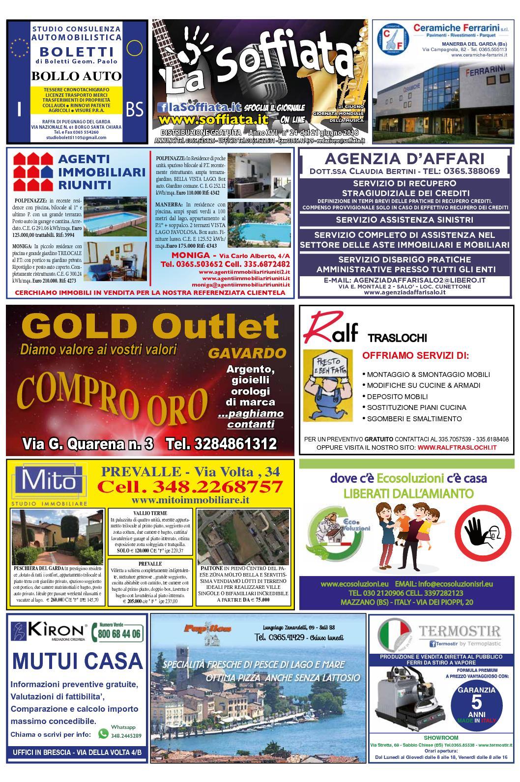 Nims Materassi Opinioni.Calameo La Soffiata 21 Giugno 2018