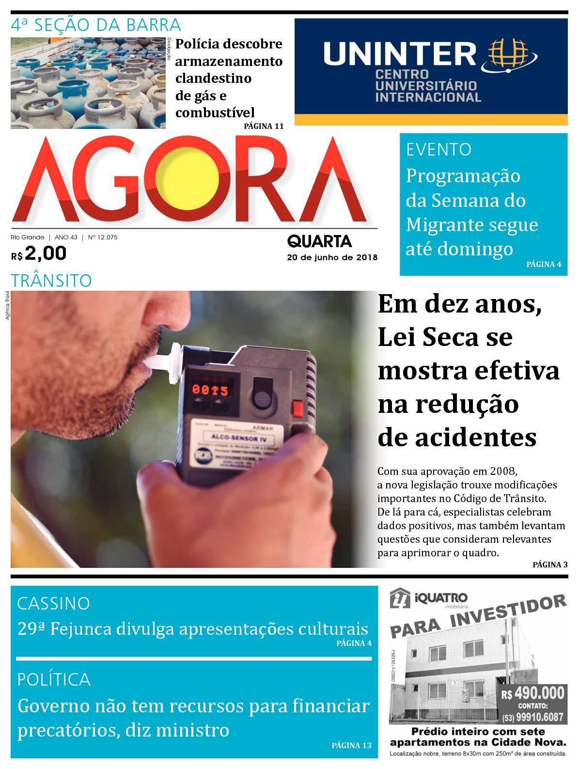 30fc3fa31 Calaméo - Jornal Agora - Edição 12075 - 20 de Junho de 2018