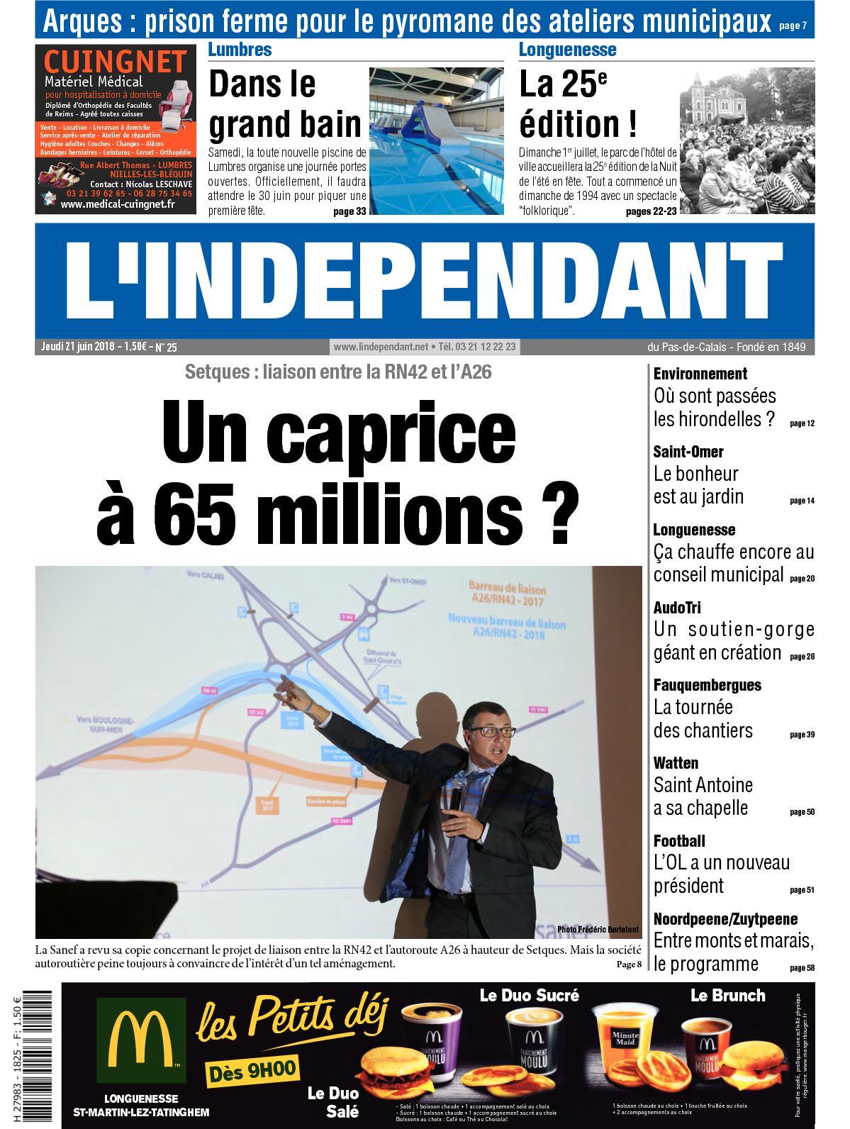 Calaméo - L indépendant Semaine 25 2018 5f215ced536c