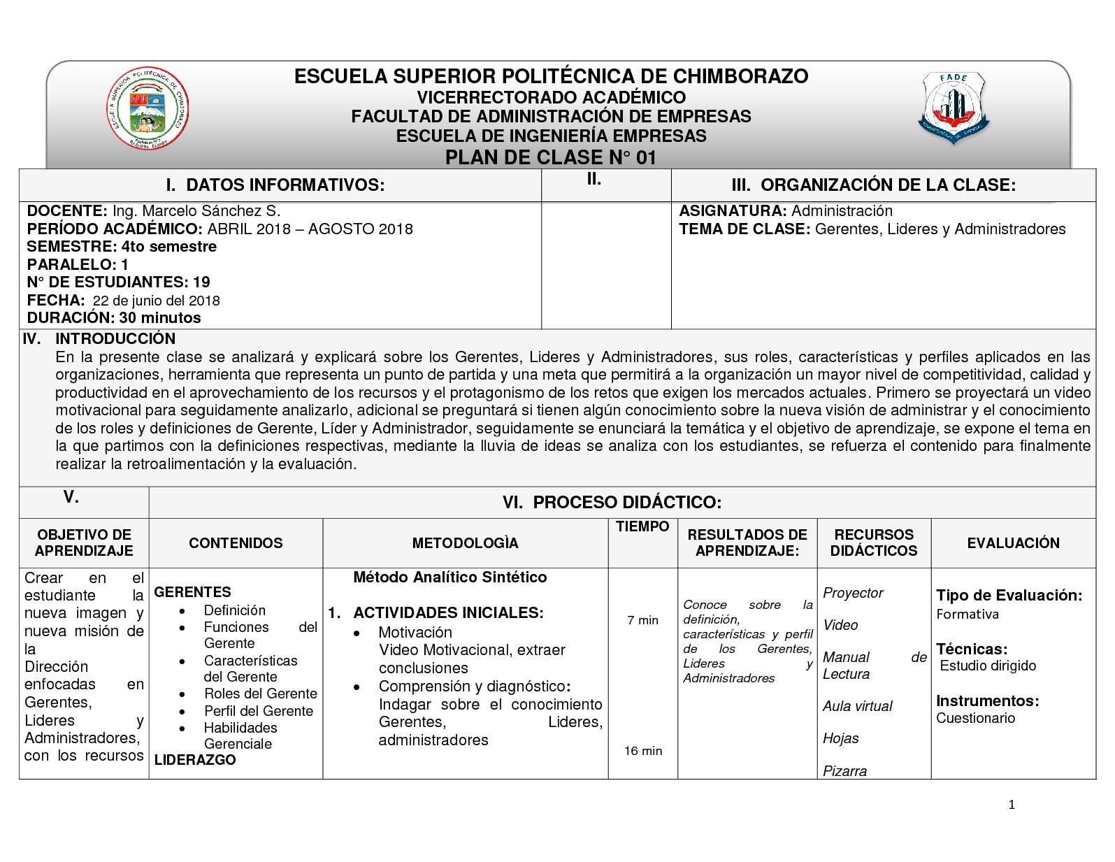 Plan De Clase Administracion Calameo Downloader